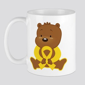 Yellow Awareness Bear Mug