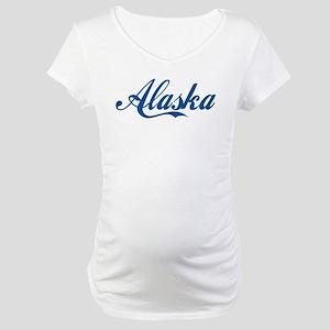 Alaska (cursive) Maternity T-Shirt
