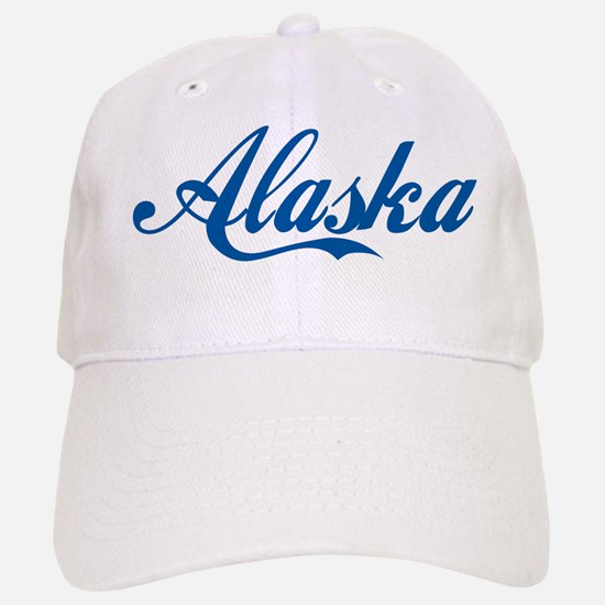 Alaska (cursive) Baseball Baseball Cap