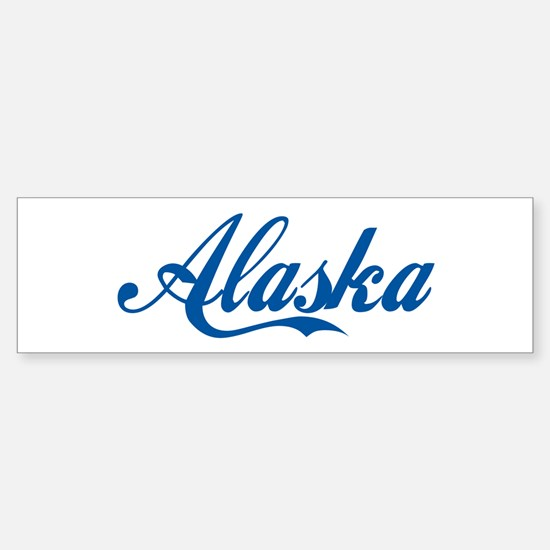 Alaska (cursive) Bumper Bumper Bumper Sticker