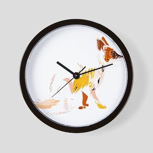 Fading fox Wall Clock