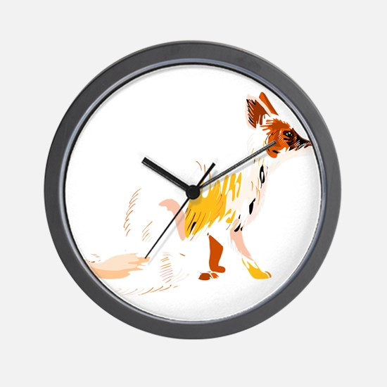 Fading fox Wall Clock