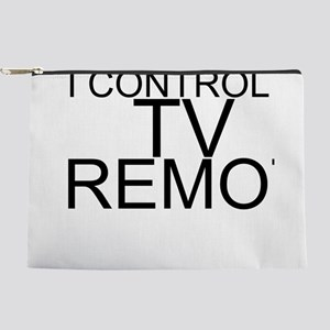 I Control The TV Remote Makeup Pouch