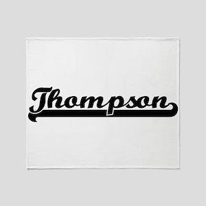 Thompson surname classic retro desig Throw Blanket