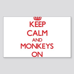 Keep calm and Monkeys On Sticker