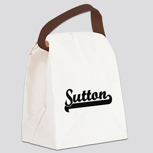 Sutton surname classic retro desi Canvas Lunch Bag