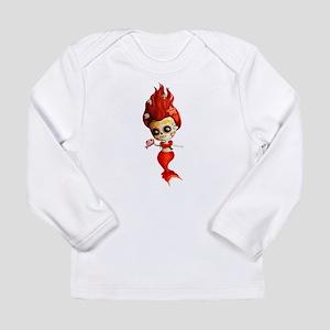 Dia de Los Muertos Mermaid Girl Long Sleeve T-Shir