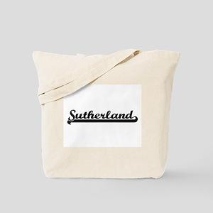 Sutherland surname classic retro design Tote Bag