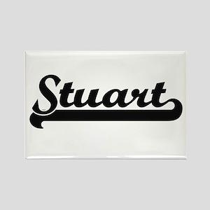 Stuart surname classic retro design Magnets