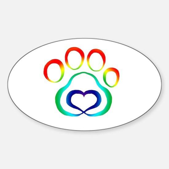 Rainbow Paw Decal