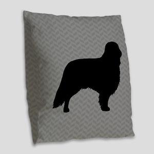 English Toy Spaniel Burlap Throw Pillow