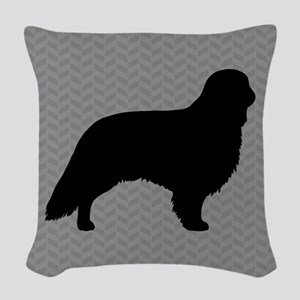 English Toy Spaniel Woven Throw Pillow