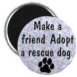 Adopt A Rescue Dog (Blue) Magnet