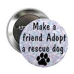 Adopt A Rescue Dog (Blue) Button