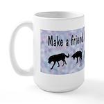 Adopt A Rescue Dog (Blue) Large Mug