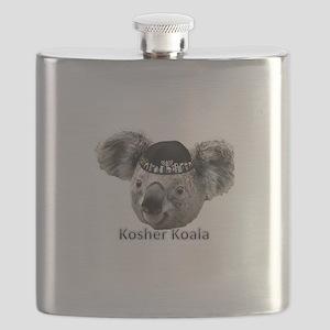 Kosher Koala Logo Flask