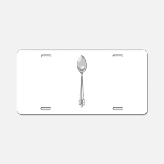 Spoon Cutlery Aluminum License Plate