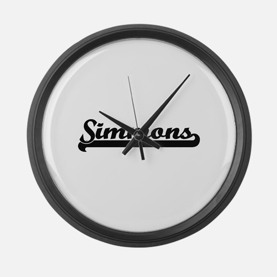 Simmons surname classic retro des Large Wall Clock