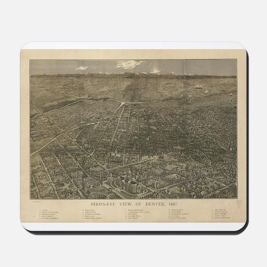 Denver, Colorado 1887 Mousepad
