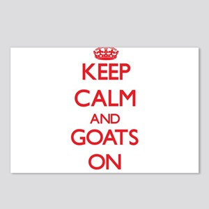 Keep calm and Goats On Postcards (Package of 8)