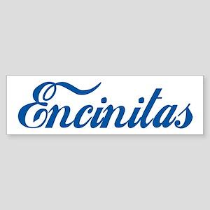 Encinitas (cursive) Bumper Sticker