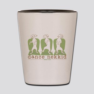 dance nekkid Shot Glass