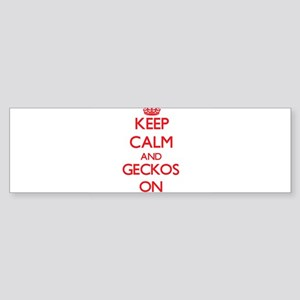 Keep calm and Geckos On Bumper Sticker
