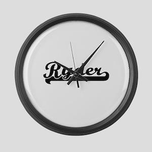 Ryder surname classic retro desig Large Wall Clock