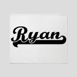 Ryan surname classic retro design Throw Blanket