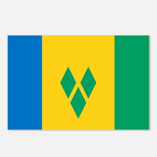 St Vincent Grenadines Fla Postcards (Package of 8)