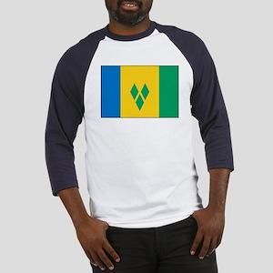 St Vincent Grenadines Flag Baseball Jersey