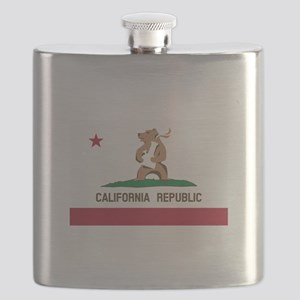 California Bong Bear Flag Flask