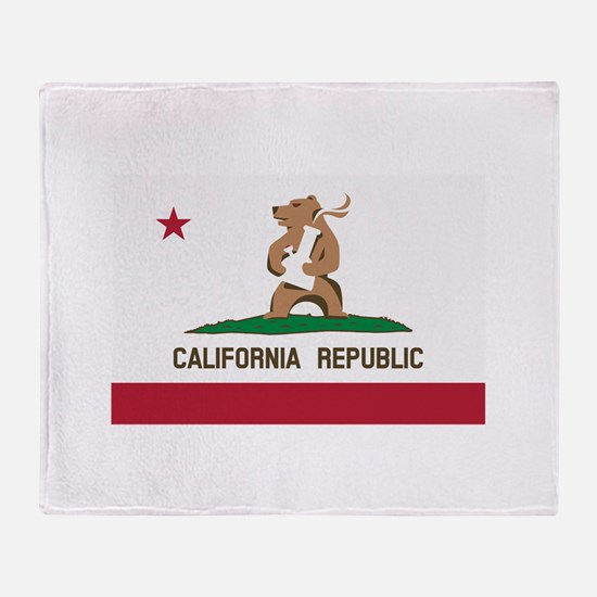 California Bong Bear Flag Throw Blanket