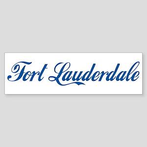 Fort Lauderdale (cursive) Bumper Sticker