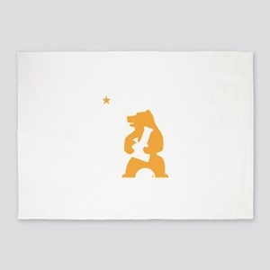 California Smoking Bear 5'x7'Area Rug