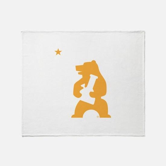 California Smoking Bear Throw Blanket