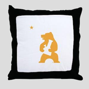 California Smoking Bear Throw Pillow