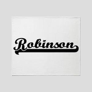 Robinson surname classic retro desig Throw Blanket