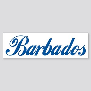 Barbados (cursive) Bumper Sticker