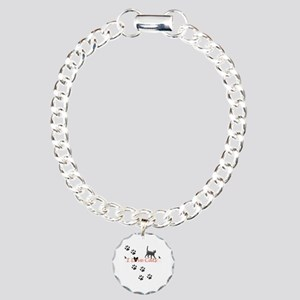 I Love Cats Charm Bracelet, One Charm