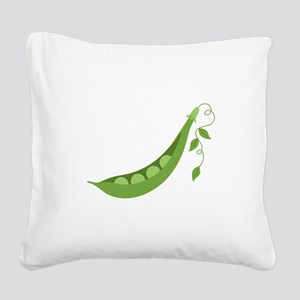 Pea Pod Square Canvas Pillow