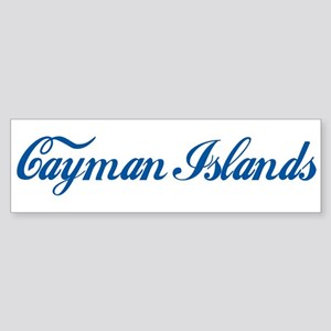 Cayman Islands (cursive) Bumper Sticker