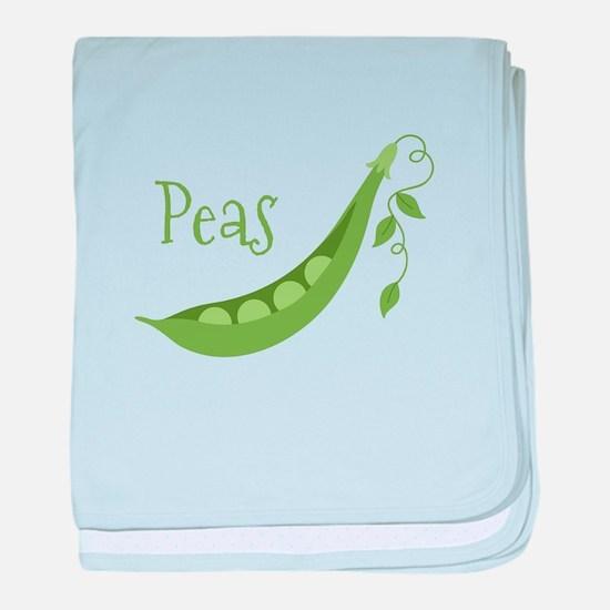 Peas baby blanket