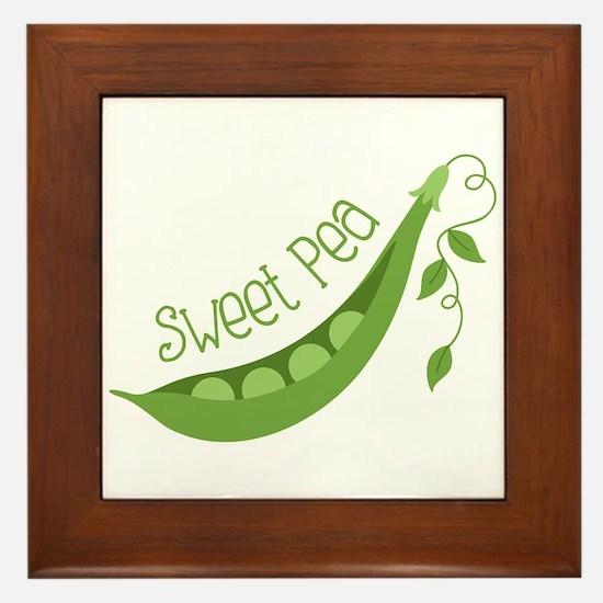 Sweet Pea Framed Tile