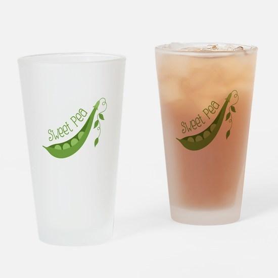 Sweet Pea Drinking Glass