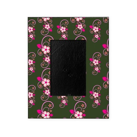 Pink Floral Pattern Picture Frame