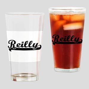 Reilly surname classic retro design Drinking Glass
