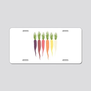 Rainbow Carrots Aluminum License Plate