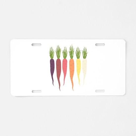 Rainbow Carrots Aluminum License Plate