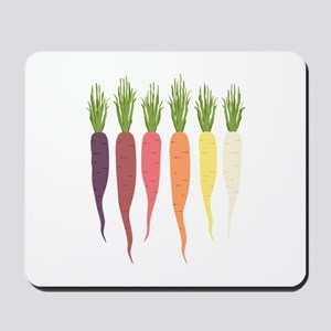 Rainbow Carrots Mousepad